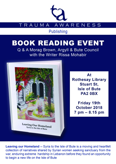 Bute Book reading Flyer